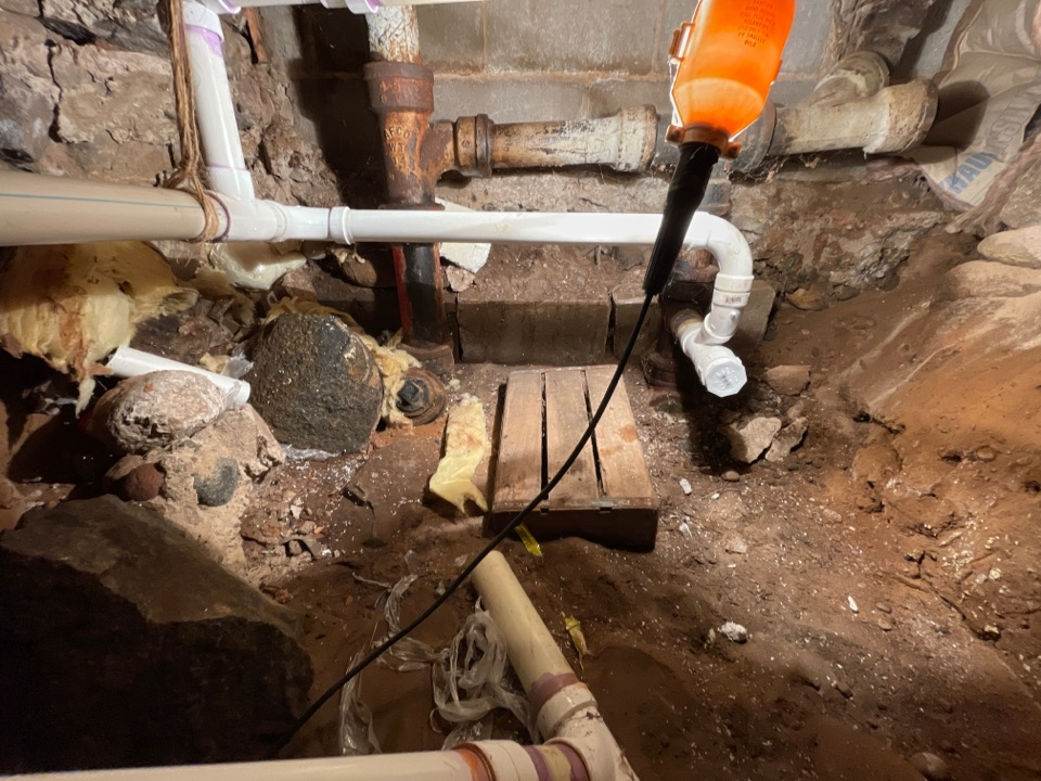 Rhinelander, WI - Redirected incorrect plumbing to the drain line. In addition to what we have done for this customer we also provide services for:  Find and repair leaks. Install faucet, Install shower, Install toilet, Install water heater, Repair faucet, Repair pipe, Repair toilet, Install garbage disposal, Repair sewer, Repair shower, Replace pressure tank, Repair sewer pipe, Repair septic pipes and laterals, Water purification, Radiant heating, Boiler repair and installation, Drinking water system, Repair water heater, Unclog drain, Roto Rooter drain pipes, Unclog toilet, Hydronic heat, Tankless water heater installation and repair, Gas line installation, Bathroom remodel, Sewer backup repair, Repair broken sewer pipes and laterals, look for us under plumber, plumbing, and plumber near me