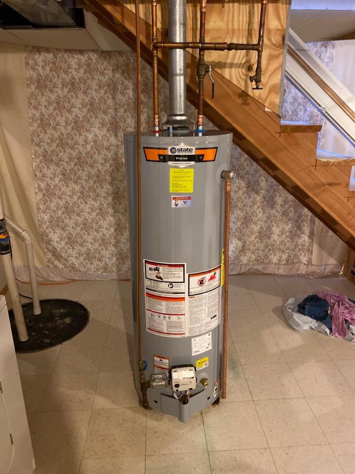 Saint Germain, WI - New 40 gallon water heater installed