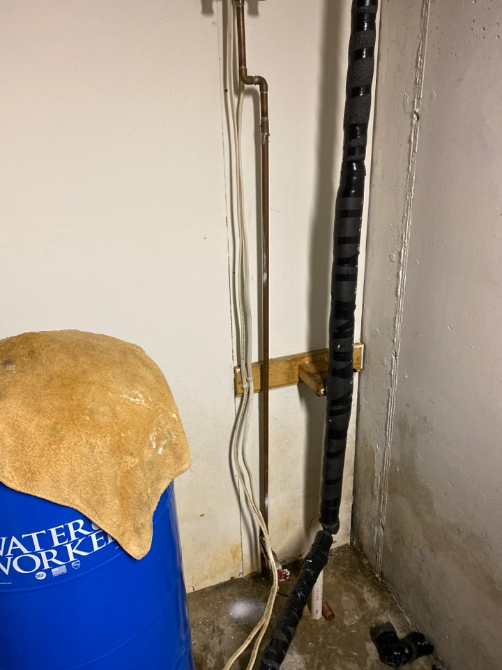 Conover, WI - Copper pipe was leaking that needed to be replaced