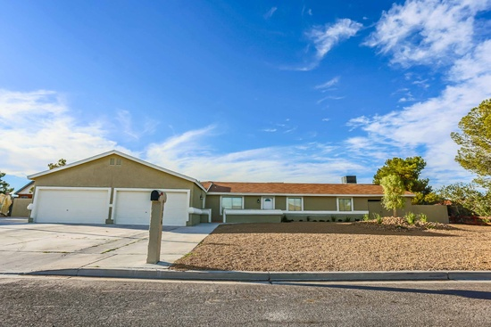 "North Las Vegas, NV - $425,000 5 beds 3 baths 3,180 sqft #lasvegas Looking for that WOW House? This is it! Completely Remodeled, 3177 sq ft, with new addition to the kitchen and master bedroom. Gorgeous 1 story on a 1/2 acre lot! This HORSE property offers a open floor plan with a huge entertainment room with French doors leading to the covered patio and sparkling pool and spa. Chefs dream kitchen with custom cabinets, breakfast bar and island. 20"" porcelain tile, 4'' baseboards. Fresh paint inside and out. Large master suite with walk-in closet. Master bath has walk-in shower. 3 A/C units, 4 car garage with RV and boat parking. Basketball Court and Equestrian Area. This home has so much to offer and it's located in quite peaceful neighborhood."