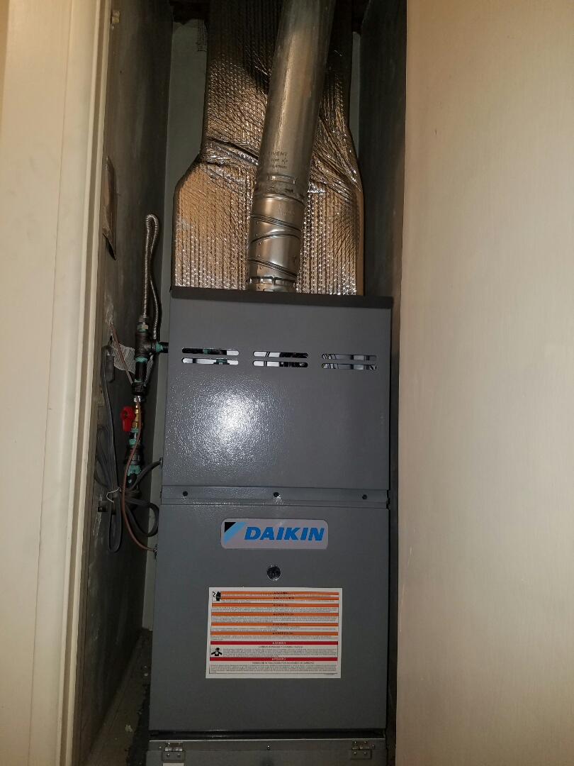 Costa Mesa, CA - Finished installing a new gas furnace in Costa Mesa