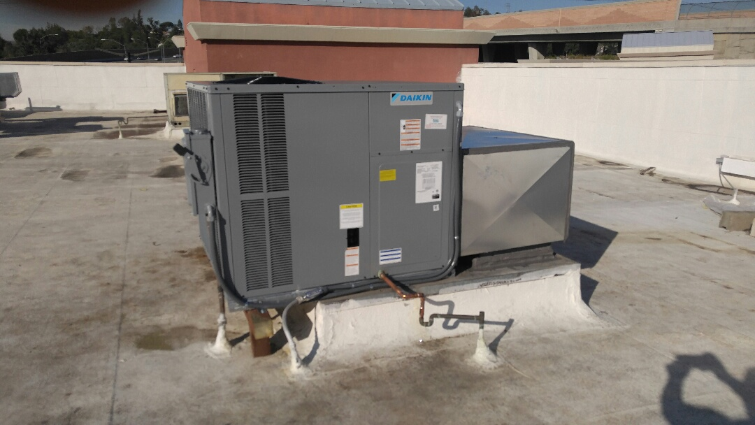 Anaheim, CA - Installed a 4-ton heat package unit