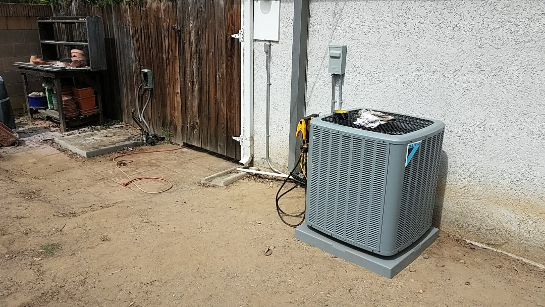 Santa Ana, CA - Just finished getting a variance with the city of Santa Ana in order to pull permits for the approval of the customer's preferred air conditioning unit location