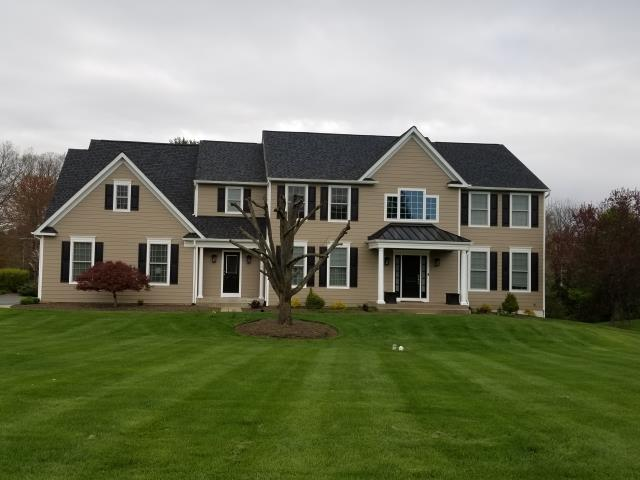 Washington Crossing, PA - Replace existing roof with CertainTeed Landmark Shingles , replace existing siding with James Hardie Siding and AZEK PVC/Cellular trim.