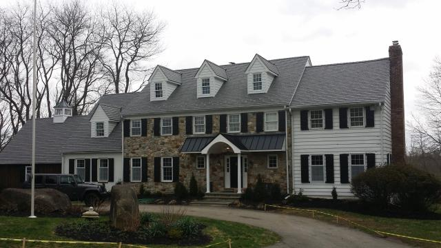 Malvern, PA - Replace existing roof with new Plywood, waterproof underlayment and new Engineered Cedar Shake imitation and new flashings. Synthetic Cedar Shake