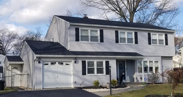 Falls Township, PA - Replace existing roof and plywood, Install New plywood and new CertainTeed Landmark shingles with new underlayment, flashing and ridge-vent. Color; Moire Black