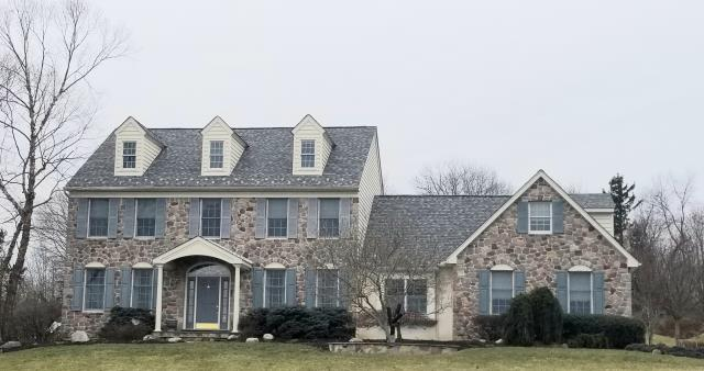 Lower Salford Township, PA - Replace existing roof with new CertainTeed Landmark PRO shingles, Install new underlayment, flashings and ridge-vent. Color;  Colonial Slate