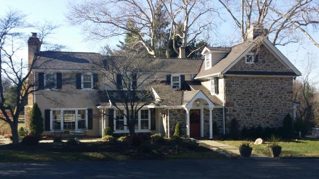 Berwyn, PA - Replace existing cedar shake roof with new Composite Cedar Shake, install new plywood, underlayment, flashings and ridge-vent. Provide free estimate