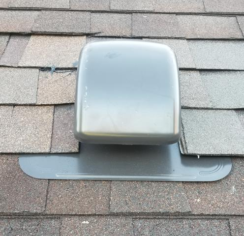 Newtown, PA - Residential Roof Repair, Replace Bathroom Vent by LifeTime Tool Company on existing roof. Re-Flash install new matching shingles. Provide Free Estimate