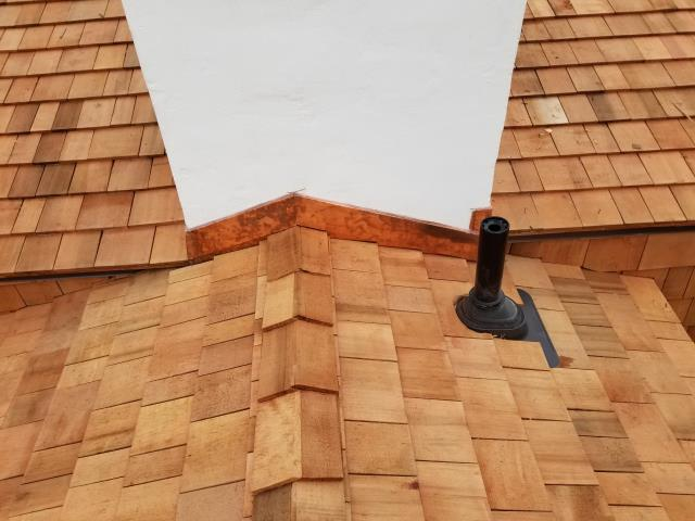 """Malvern, PA - Residential Roofing, Fabricate and install Copper Flashing and """"Lifetime Tool"""" Plumbing Pipe Flashing. Provide free estimate - Roofing Contractor"""