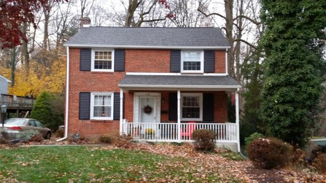 Springfield, PA - Residential Roof Replacement, replace existing roof with Nem CertainTeed Landmark Shingles, Flashings, underlayment and ridge-vent. Color; Weathered Wood. Roofing Contractor - Free Estimate  We Offer James Hardie Siding and Trim