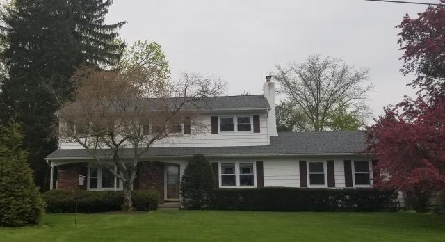 Yardley, PA - Residential Roofing Job - Install 2nd layer over existing roof with CertainTeed Landmark Shingles. Install new CertainTeed Ridge - Vent and flashings. Color: Granite Gray