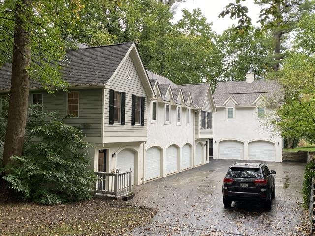 """Bryn Mawr, PA - Roof Replacement - Replace existing roof with new CertainTeed Landmark PRO Shingles , underlayment, ridge-vent and new flashings. Color : Weathered Wood. Fabricate and install new 6"""" Seamless gutter on the garage  Roofing Contractor Bryn Mawr PA  James Hardie Siding Contractor Bryn Mawr PA  Siding Contractor Bryn Mawr PA"""