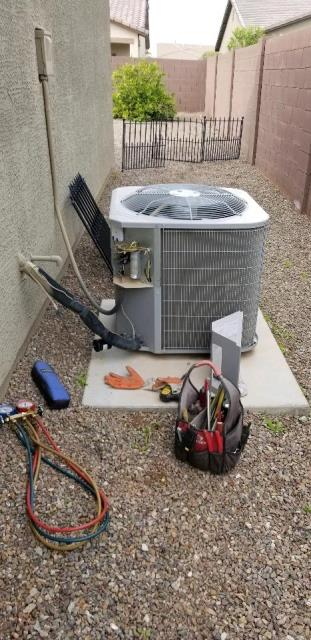 San Tan Valley, AZ - Maintenance call. Performed AC tuneup on Carrier system.