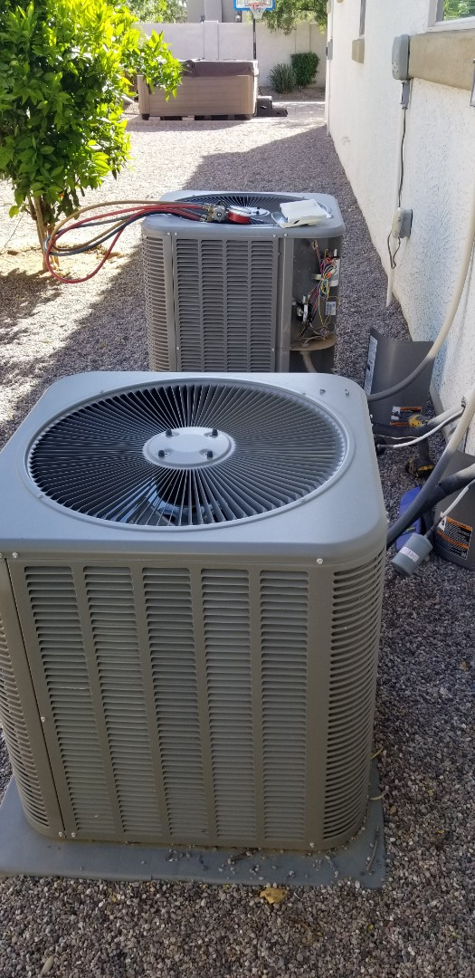 Gilbert, AZ - Service tune up on 2 Lennox ac units