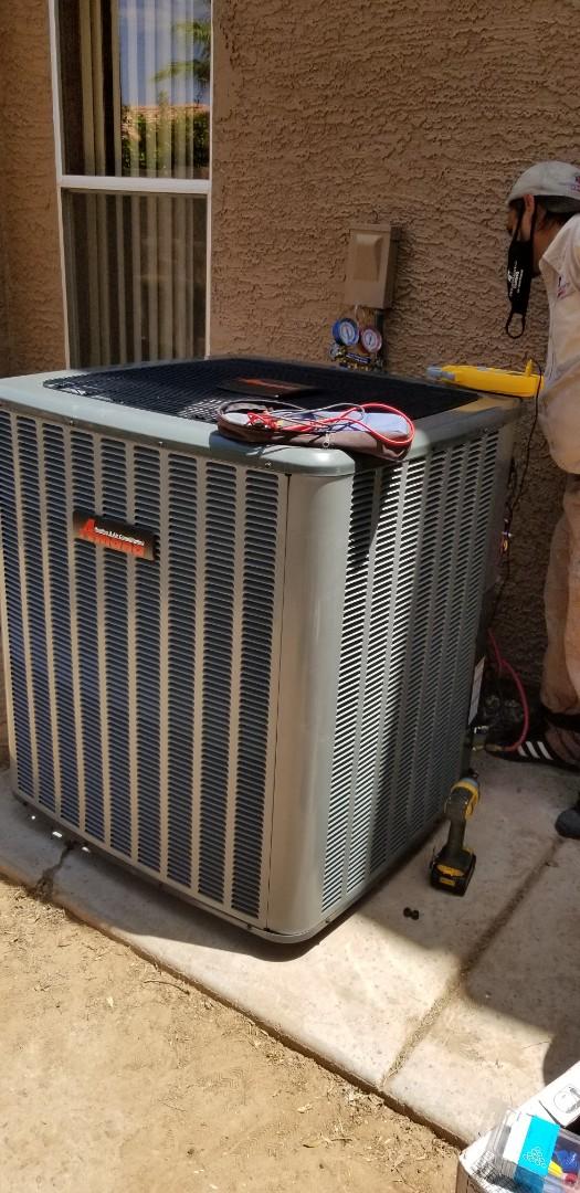 Mesa, AZ - Installing a new Amana ac unit for a family in Mesa