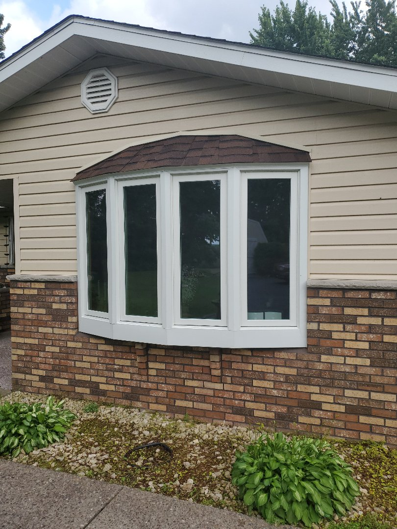 Chippewa Falls, WI - Check out this newly installed Renewal by Andersen Bow Window!!  Beautiful!!