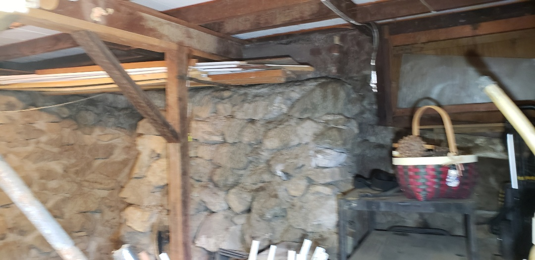 Silverado, CA - Old 1930 Stone and mortar raised foundation inspection.