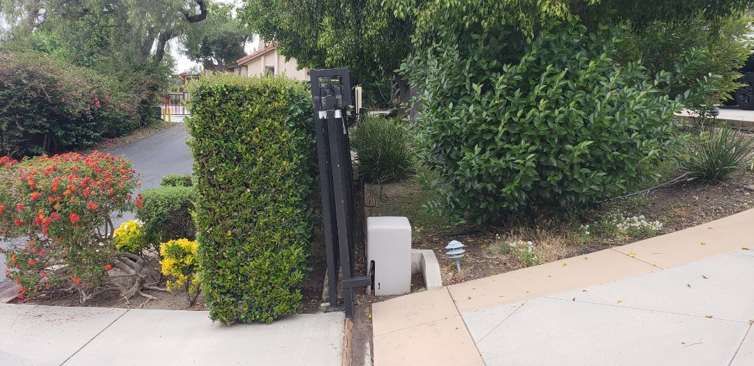 Anaheim, CA - Leaning retaining wall evaluation.