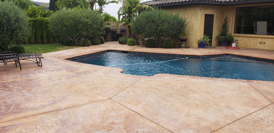 Riverside, CA - Pool deck concrete coating evaluation