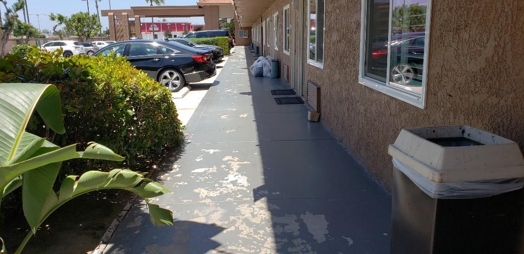 Buena Park, CA - Motel concrete coating.