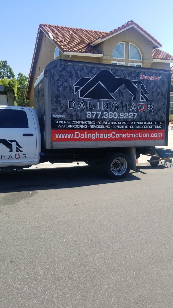 Yorba Linda, CA - Starting a new project in Yorba Linda. Installing push piers to stabilize the property.