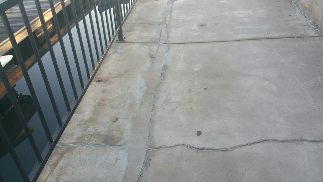 Huntington Beach, CA - Repairing walkway along seawall