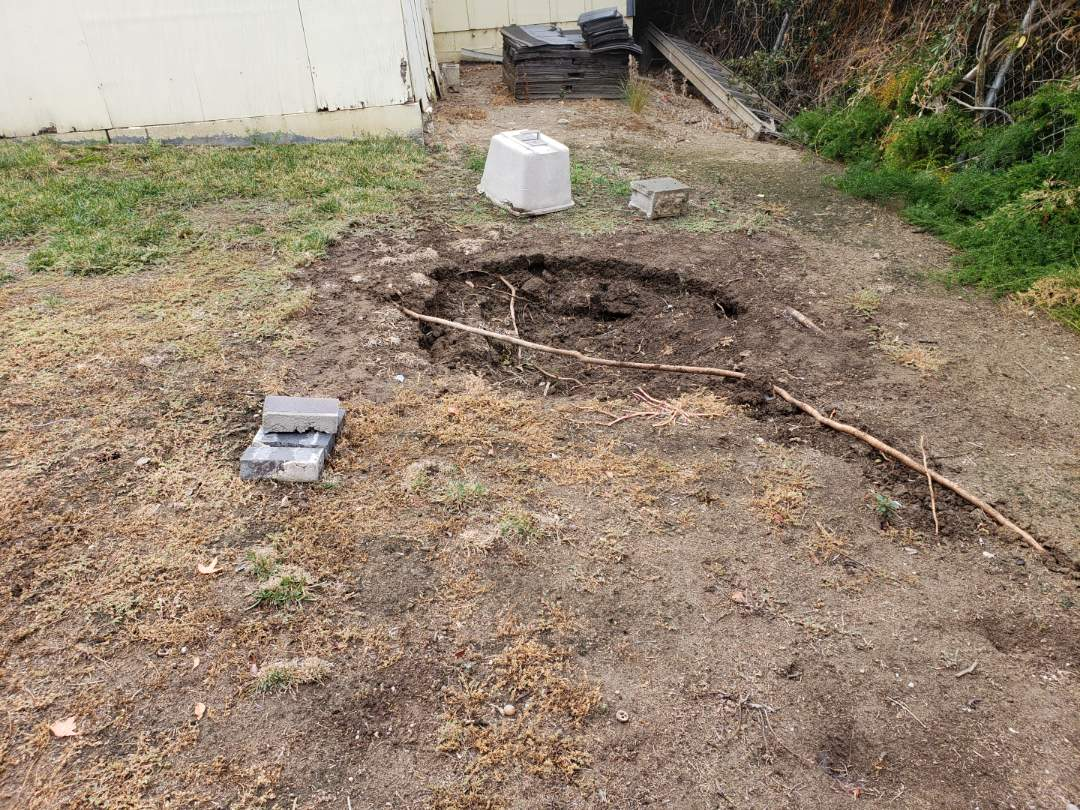 Chino Hills, CA - Sink hole requiring soil stabilization as well as densification.