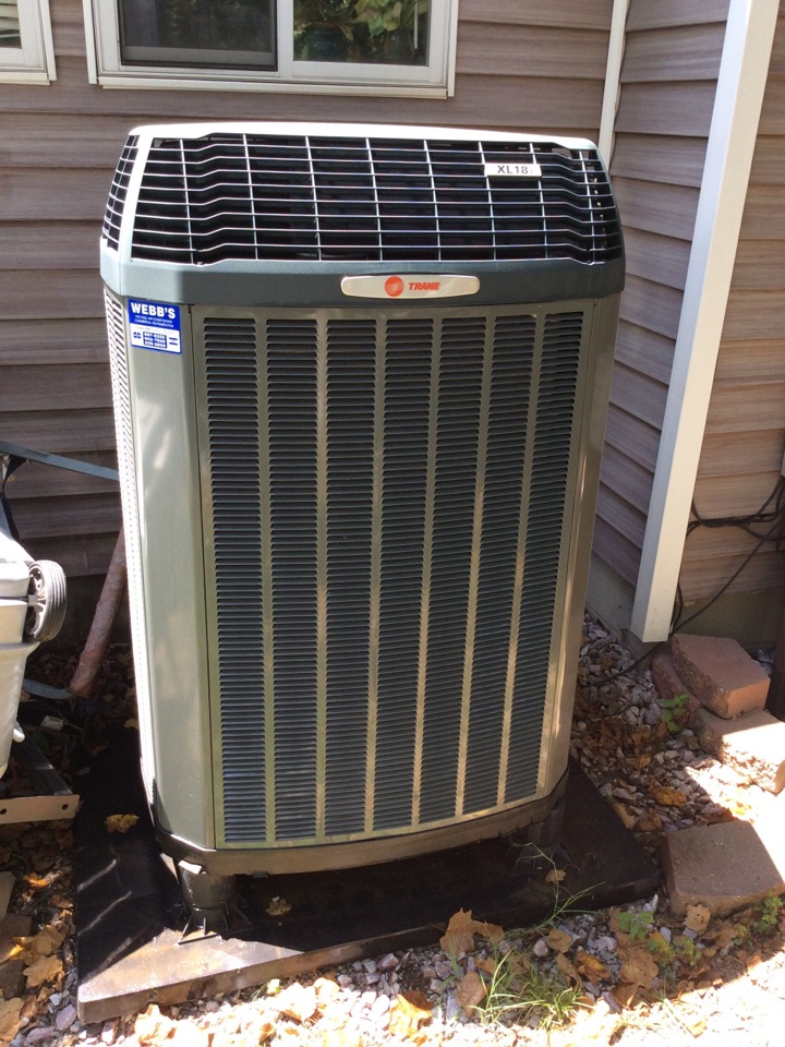 Webb's Annual Fall Clean and Check on a Trane XL18i Heat Pump System.