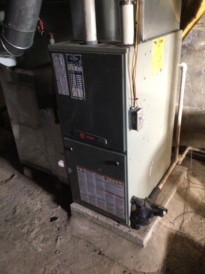 Webb's 25pt Annual Fall Clean and Check on a Trane XV95.  90% Gas Furnace.