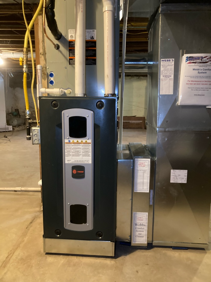 Installing new Trane gas furnace and air conditioner