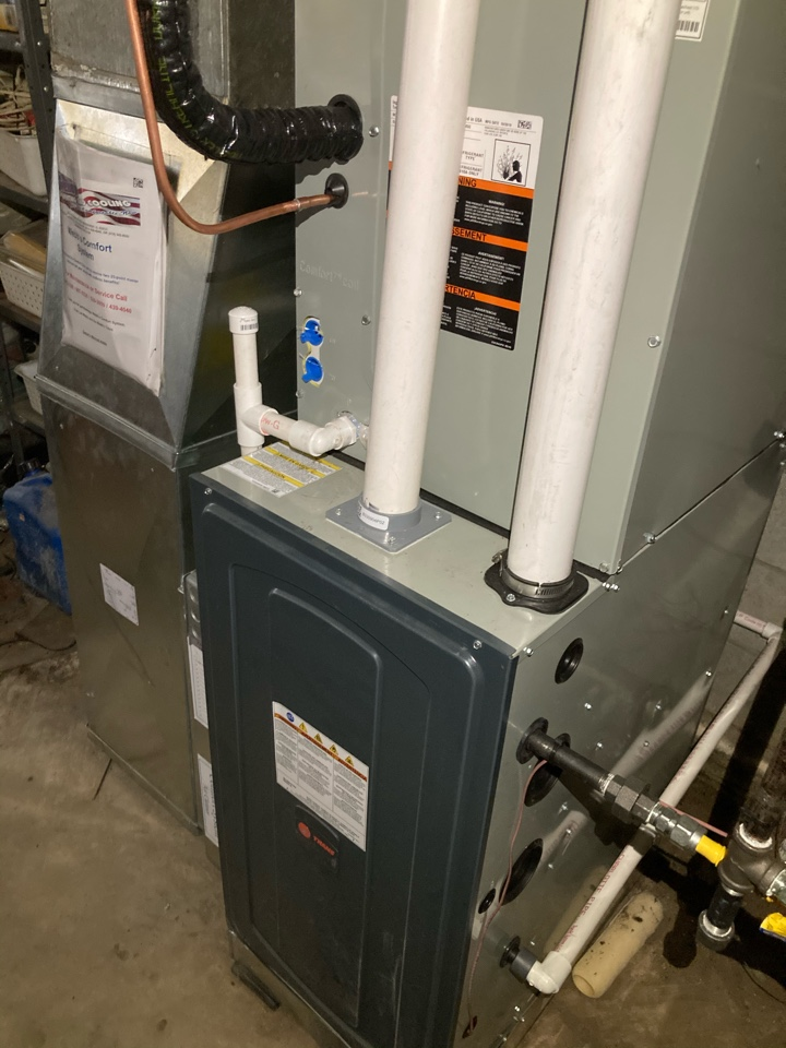 Installing new Trane gas furnace