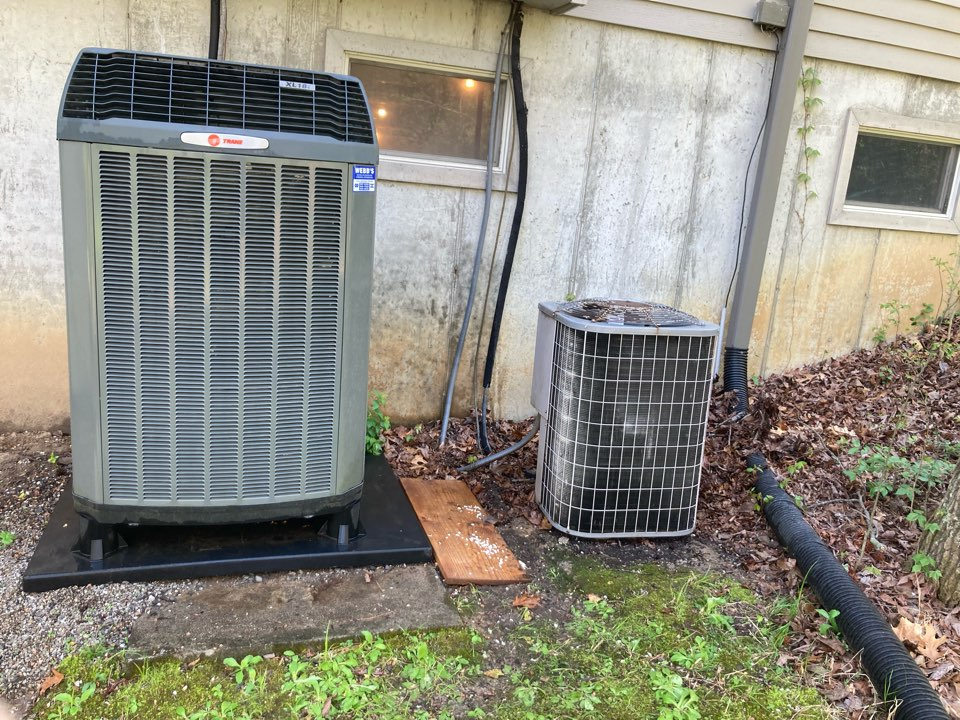 Completing maintenance on two heat pumps