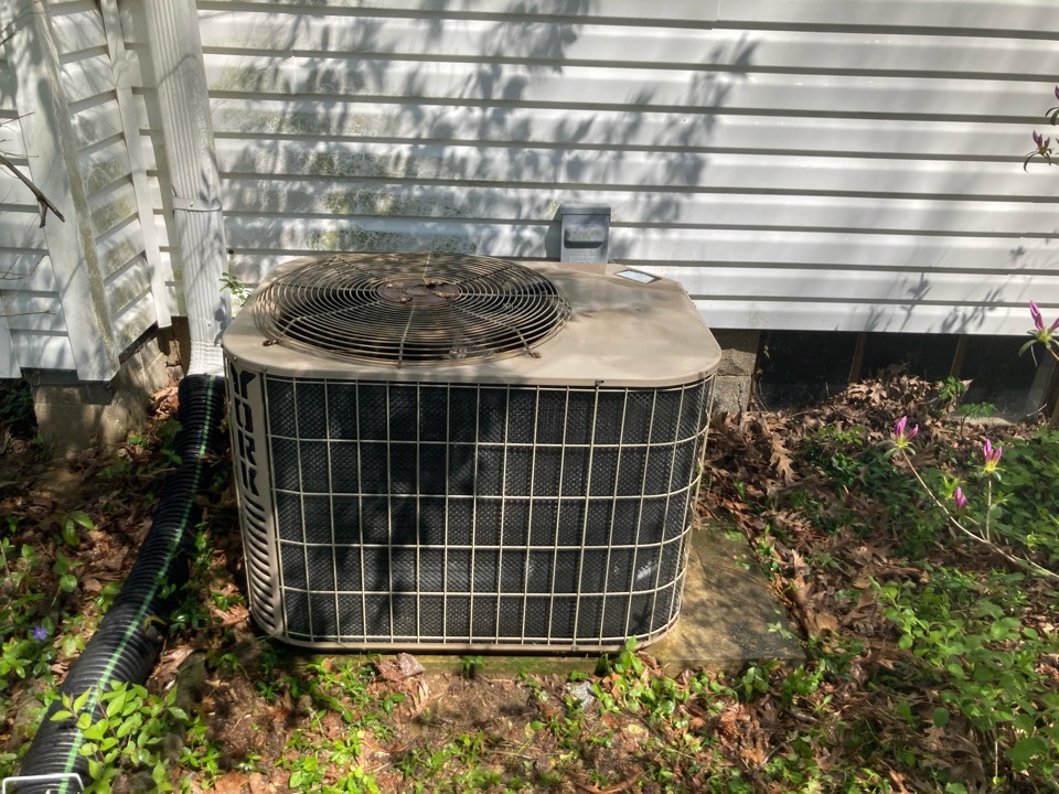 Completed maintenance on a York air conditioner