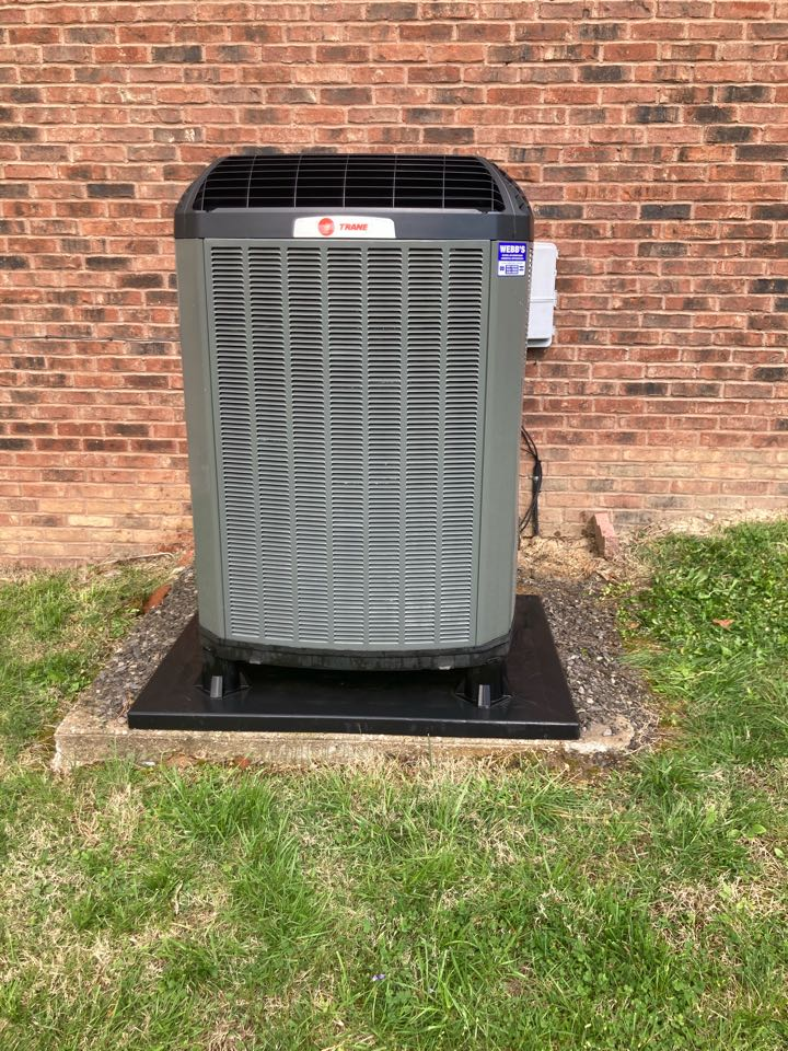 Performing maintenance on a trane heat pump