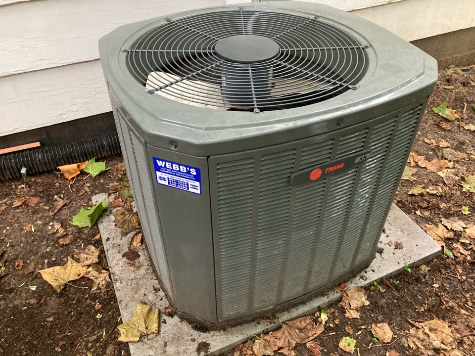 Carbondale, IL - Performing maintenance on a Trane XR air conditioner in Carbondale.
