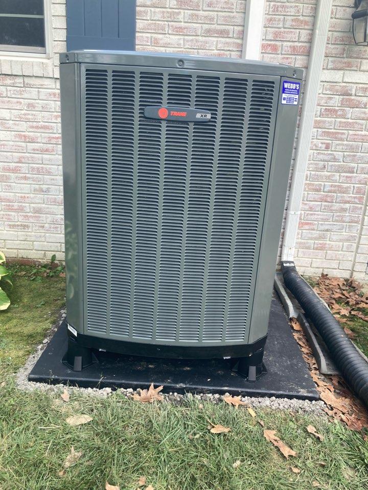 Installing a new Trane heat pump and air handler