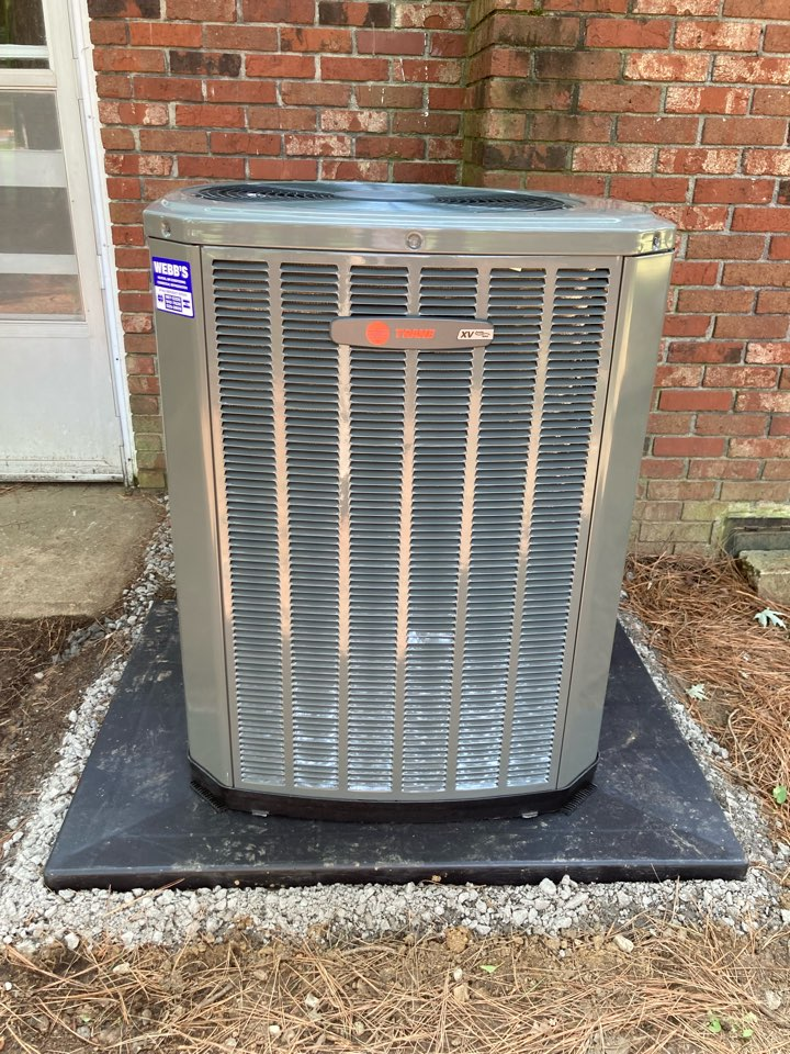 Installing a new Trane air conditioner