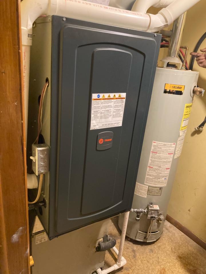 Christopher, IL - Installing a mew Trane gas furnace