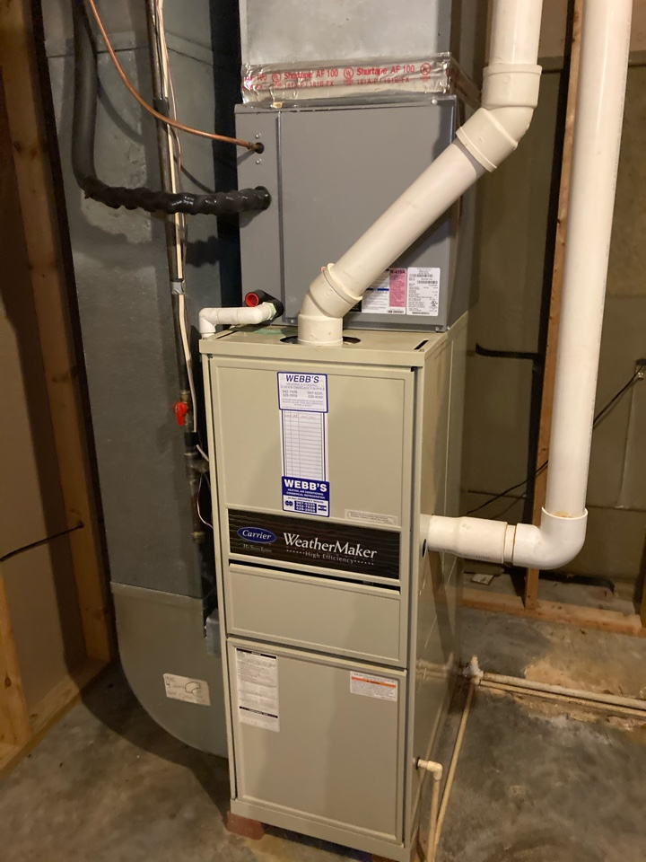 Carbondale, IL - Performing maintenance on a gas furnace in Carbondale.