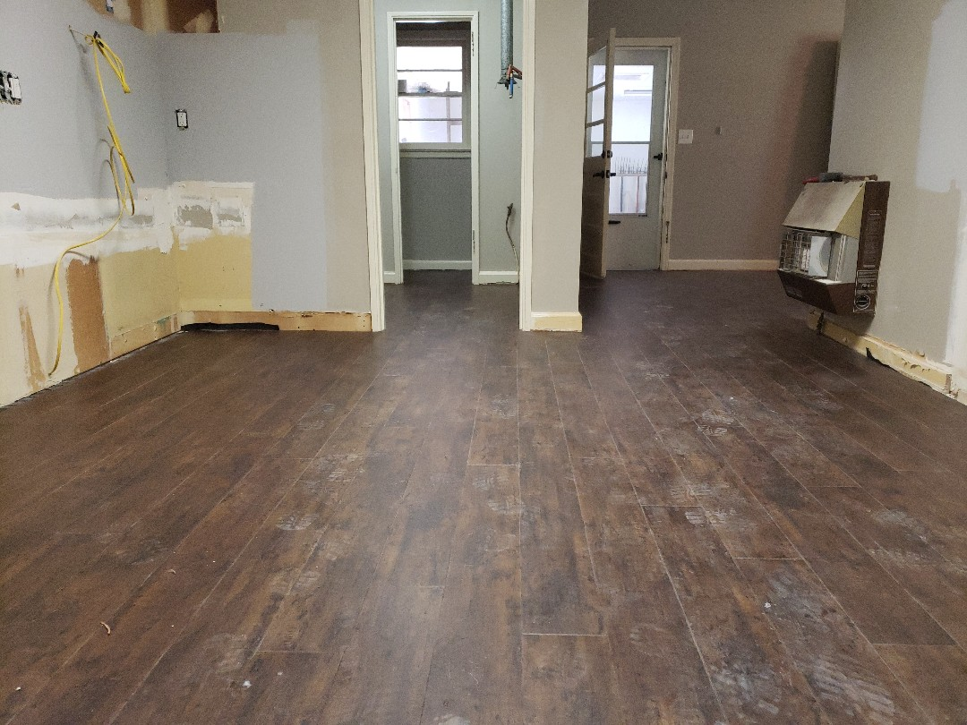 New flooring done waiting on trim!