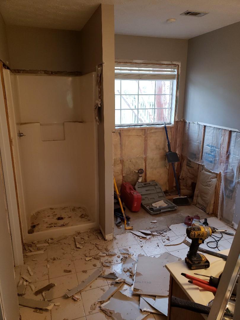 Wetumpka, AL - Demo old jacuzzi tub and shower and tile for master bath remodel