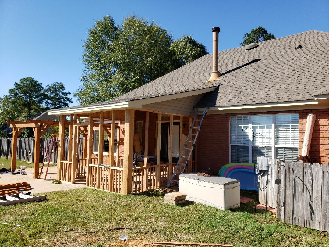 Wetumpka, AL - Vinyl siding and paint done. Next up screen!