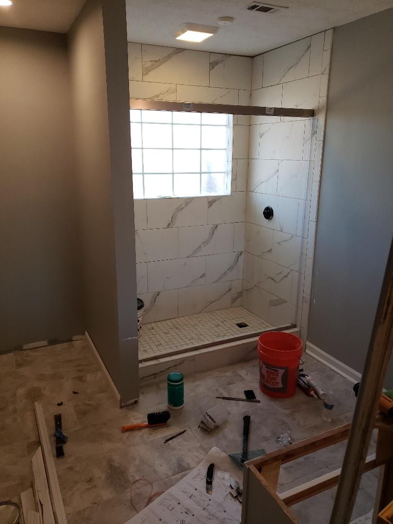 Wetumpka, AL - Master bath remodel. Tile done shower door going in