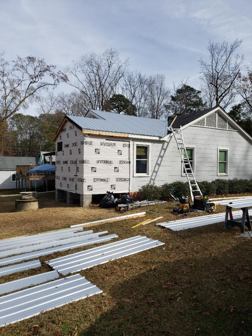 Millbrook, AL - Starting metal roof!