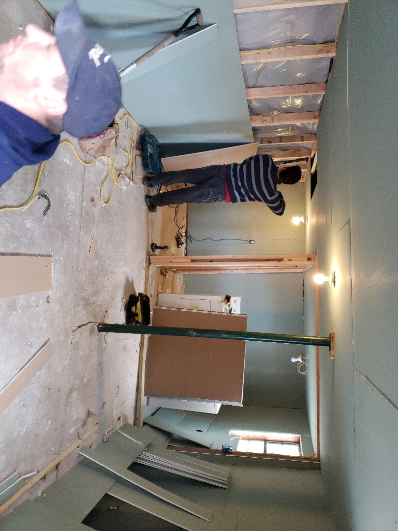 Deatsville, AL - Finishing out storage/utility/bathroom