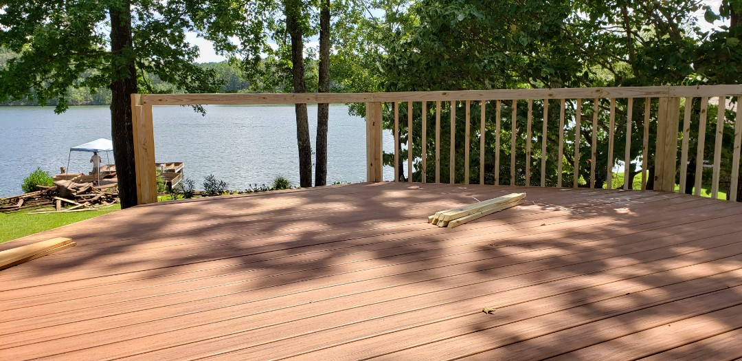 Dadeville, AL - Railing going up, and dock demo