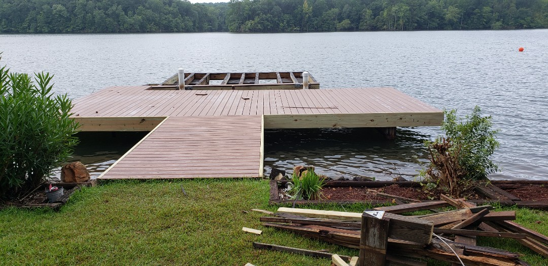 Dadeville, AL - Dock reduced and trimmed ready for railing