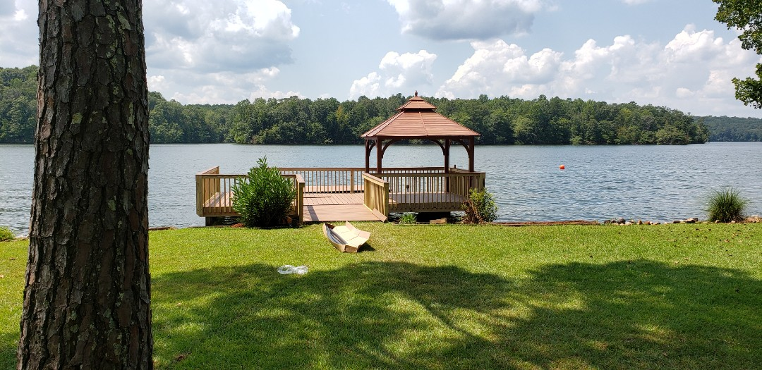 Dadeville, AL - Gazebo and railing on dock. Ready for bumpers