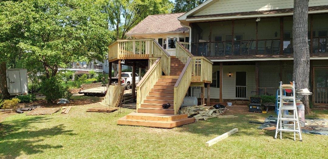 Dadeville, AL - Deck remodel almost done!